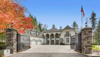 Mayview Manor: Private & Gated, 10,100 SF Estate Located on 5 Secluded Acres