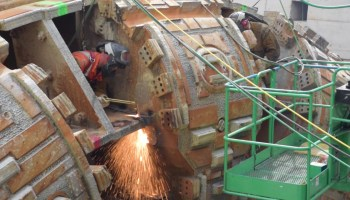 Watch: Bertha the Seattle tunnel machine goes under the torch as huge pieces are cut, lifted away
