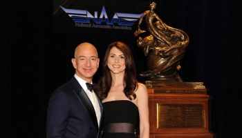 Jeff Bezos accepts top aerospace award and Father's Day pancakes in one weekend