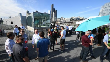 Photos from GeekWire Sounders Day: BBQ and beer at a big rooftop tailgate party — and an epic win