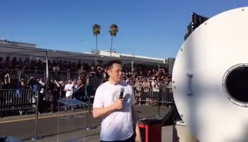 Elon Musk at Hyperloop competition