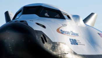 Fuzzy dice on Dream Chaser