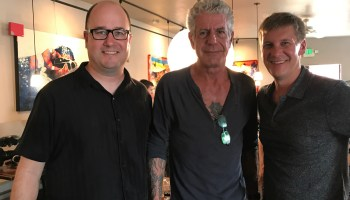 Anthony Bourdain lunches with GeekWire, dishes on tech, pot and VR porn in a changing Seattle