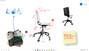 Microsoft's new Whiteboard app aims to turn computer screens into digital canvasses
