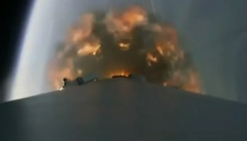 SpaceX rocket exhaust