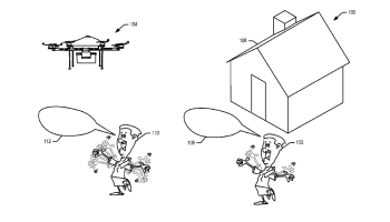 Waving at drones: The wackiest patent image you'll see today, courtesy of Amazon
