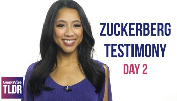 TLDR: Day 2 of Zuckerberg's testimony, protest at Amazon HQ, Snap Spectacles
