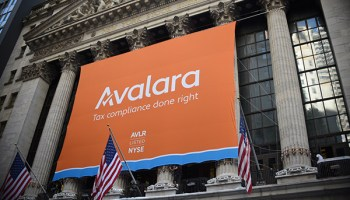 Avalara goes public, rings opening bell at the New York Stock Exchange, stock rises 87%