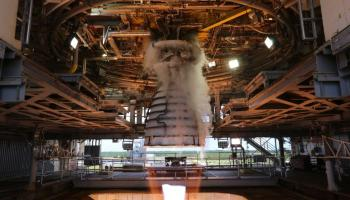 AR-22 rocket engine firing
