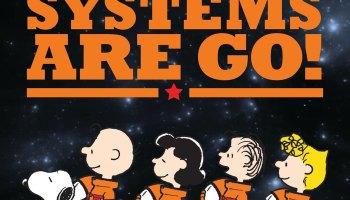 Peanuts gang in spacesuits