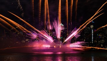 Happy 4th of July from GeekWire – Fireworks over Lake Union