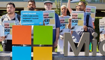 Immigration activists deliver 300K signatures to Microsoft HQ demanding an end to ICE contract