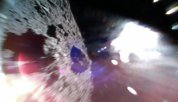 Asteroid picture in mid-hop