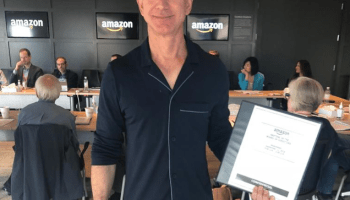 Extra casual Wednesday at Amazon as Jeff Bezos wears pajamas to board meeting — for a cause