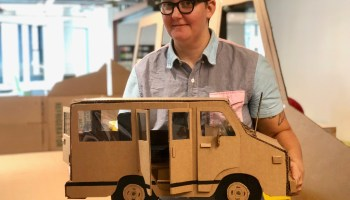 Amazon's 'Artist in Residence' builds his cardboard creation — and finds a way to survive in Seattle