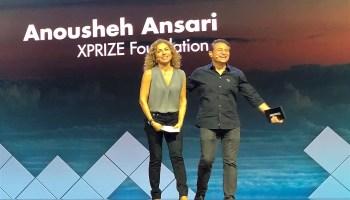 Anousheh Ansari and Peter Diamandis