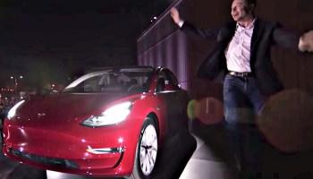 Elon Musk and Tesla Model 3