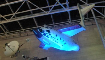 SpaceShipOne in blue