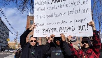 New Yorkers protest Amazon HQ2: 'We should be investing in housing … not in helicopters'