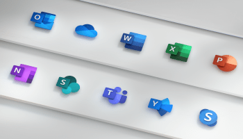 Signature Microsoft Office apps get new-look logos