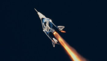 Virgin Galactic rocket firing