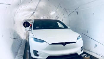 Tesla in Boring Company tunnel