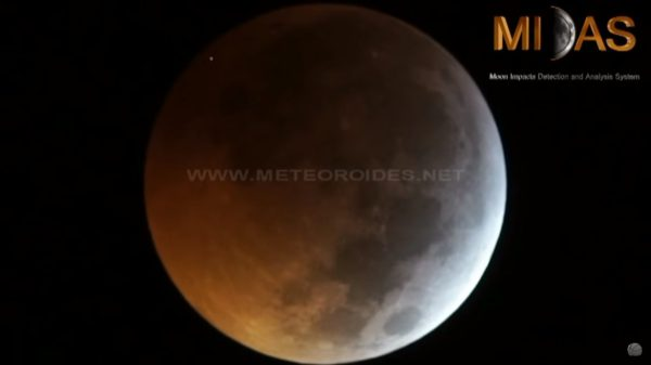 Skywatchers spot one maybe two meteor impacts on moon