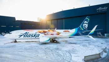 Higher, further, faster: Alaska Airlines unveils 'Captain Marvel' plane ahead of superhero film