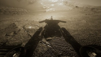 Opportunity rover's shadow