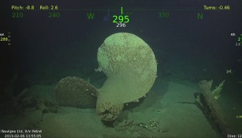 Lost in 1943, the USS Strong is found again by Paul Allen's Petrel research vessel