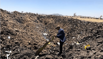 Ethiopian Airlines accident scene