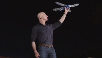 Jeff Bezos and robo-dragonfly