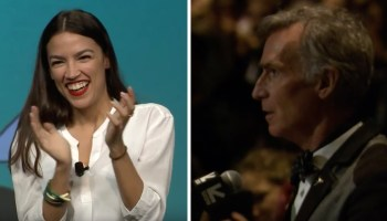 Bill Nye surprises AOC at SXSW, asks about overcoming fear of climate change
