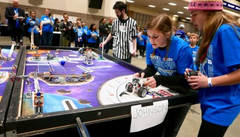 In first GeekWire Robotics Cup, school kids engineer a spirited and inspiring competition
