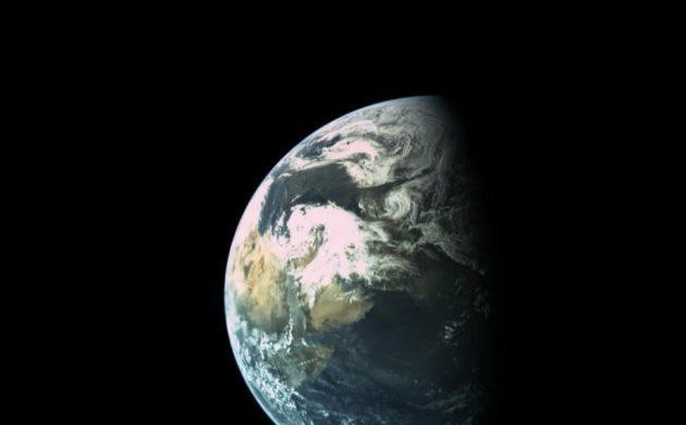Vista di Beresheet della Terra
