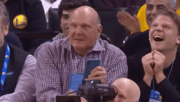 Former Microsoft CEO Steve Ballmer reaches peak NBA geek as Clippers' comeback stuns Warriors