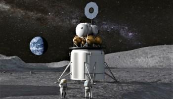 Human lunar landing