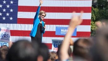 In campaign stop near Amazon, Elizabeth Warren avoids confronting tech giant on breakup plan