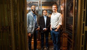 GeekWire Elevator Pitch Ep. 3: Can these three entrepreneurs make an IoT connection? Watch as they ride to top of Seattle's Smith Tower