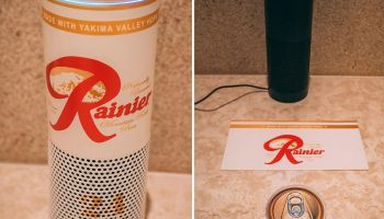 Is there an Echo in beer? Seattle artist turns Amazon smart speaker into Rainier can