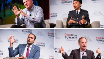 Overheard at the GeekWire Summit: Speakers talk AI, privacy, basketball, aging, unicorns and more