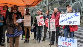 Seattle officials and activists protest at Amazon HQ over $1.45M effort to 'buy our City Council'