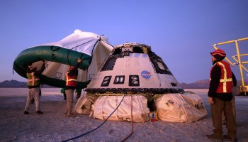 Boeing's Starliner space taxi makes flawless landing after flawed flight