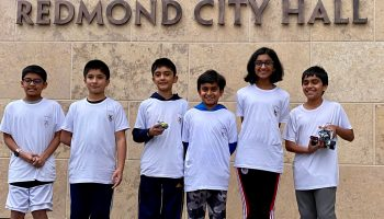 Kids on FIRST LEGO League robotics team take an idea for safer streets all the way to city officials