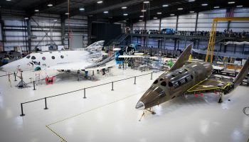SpaceShipTwo rocket planes