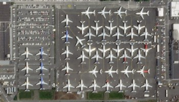 737 MAX planes parked
