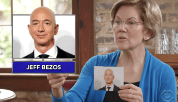 'Beezos!' Watch Elizabeth Warren call out tech CEOs in name-the-billionaire game on 'Late Show'
