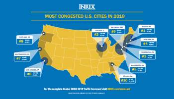 Seattle traffic congestion is 14th worst in U.S. as average commuter lost 74 hours in 2019