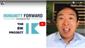 Andrew Yang的基金会捐赠了100万美元的努力,提供3个月需支付300万美元的家庭