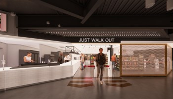 """西雅图的气候承诺竞技场(Climate Pledge Arena)将采用亚马逊(Amazon)的""""Just Walk Out""""技术,避免在特定的商店排起长队"""